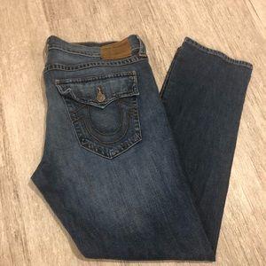 True Religion Jeans - True Religion Ricky Relaxed Straight Jeans Sz 40